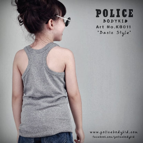 POLICE KB.011 BODYKID 4-6YRS PLAIN TANK TOP