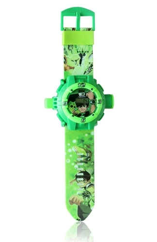 BEN 10 GREEN KID CARTOON SILICONE WATCH