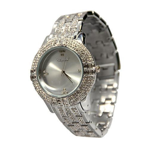 Chopard Stone Silver Luxury Watch Silver Face