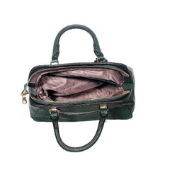 8150-1 GREEN LEATHER BAG