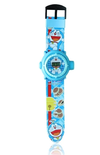 DARAEMON BLUE KID CARTOON SILICONE WATCH
