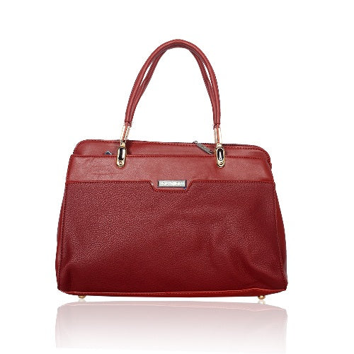1001 GLAMOR MAROON LEATHER BAG