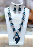 BLUE COLORED STONE SET