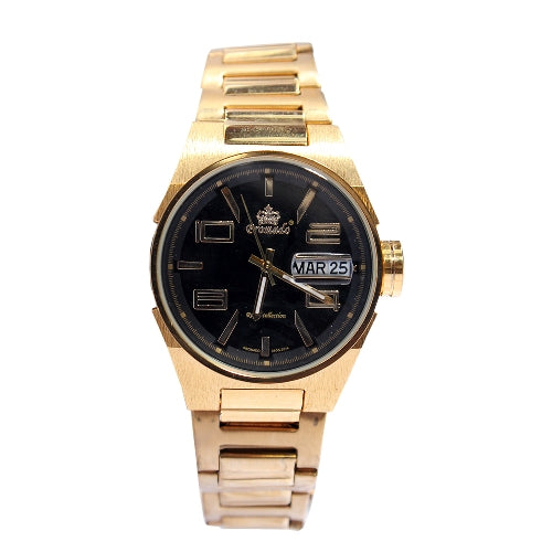 Promado 3514 18K GOLD Chain Black Face Watch