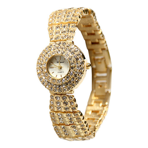 Chopard 253-Stone Gold/Sliver Ladies Chain Watch