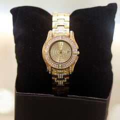 SUPERIOR GOLD FACE GOLD CHAIN LADIES WATCH