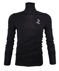 Jayden Black Turtle Neck Long-sleeve T shirt