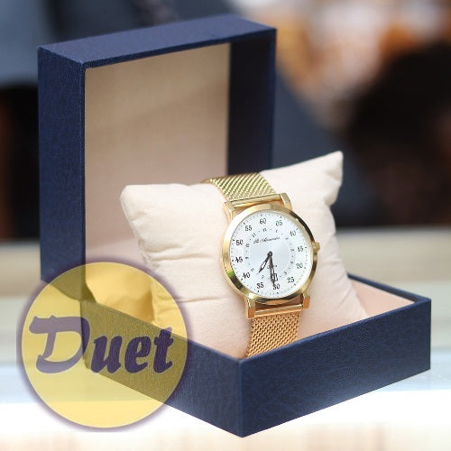 BOX St ALEXANDER SA145  WHITE FACE GOLD CHAIN WATCH