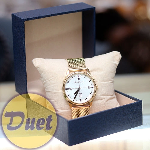 BOX St ALEXANDER SA154 GOLD CHAIN WATCH