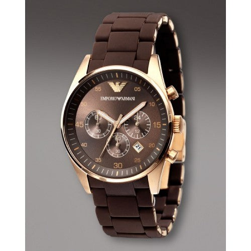 EMPORIOR ARMANI INSPIRED MALE BROWN WATCH