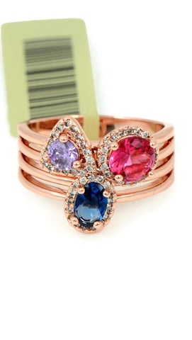 VIENNOIS GLASS STONE COCKTAIL RING A5317848