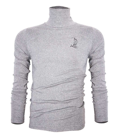 Jayden Lite Grey Turtle Neck Long-sleeve T shirt
