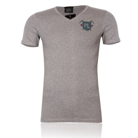 POLICE F.484 FREESIZE GREY MEDIUM PRINTED SHORT SLEEVE T-SHIRT