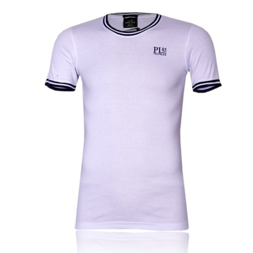 POLICE F.526 FREESIZE WHITE MEDIUM PRINTED SHORT SLEEVE T-SHIRT