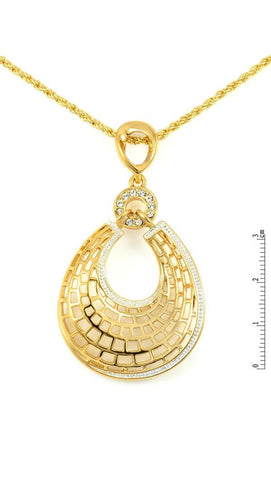 VIENNOIS SPARKLING AND FRESH COLORED DROP 14K GOLD PLATED FASHION SHORT NECKLACE V5316978