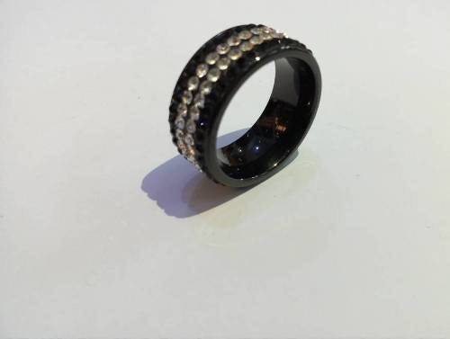 BLACK MEN RING WITH STONE (SIZE 11)