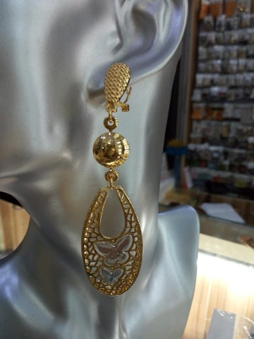 0008 GOLD FASHION LONG EARRING