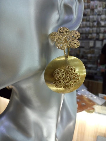 0015 GOLD FASHION LONG EARRING