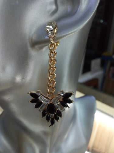 BLACK STONE FASHION LONG EARING