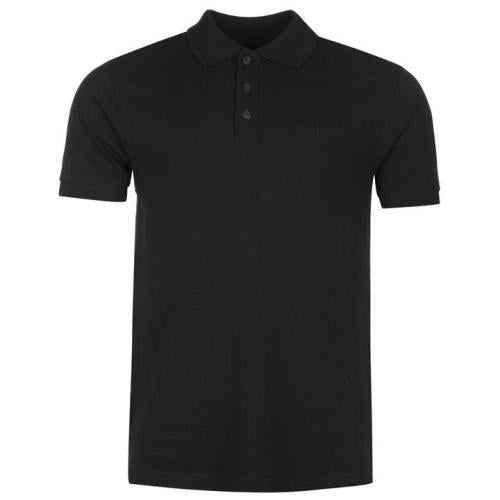 PLAIN BLACK POLO T-SHIRT S--XXL