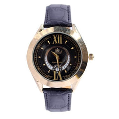 Promado B3750GDL 18K GOLD Leather Black Face Watch