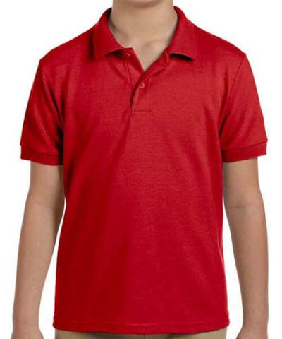 KID PLAIN RED POLO T-SHIRT SIZE(16)