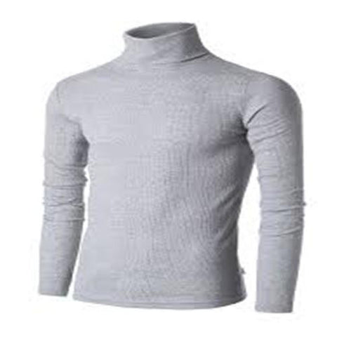 UZEM GREY TURTLE NECK BODYSIZE T-SHIRT Size M-Large