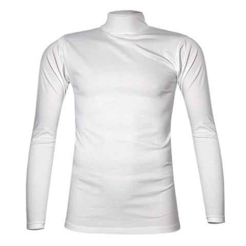 ROYAL WHITE TURTLE NECK T-SHIRT S-XL