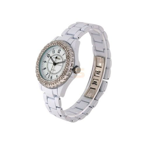 CURREN 8078 Women's Analog with White face Silver Watch