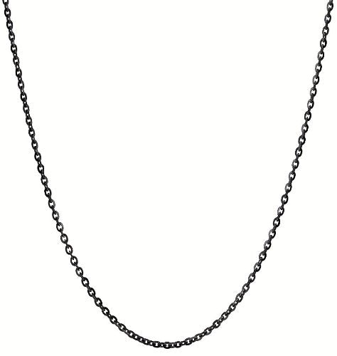 BLACK STAINLESS NECKLACE CHAIN