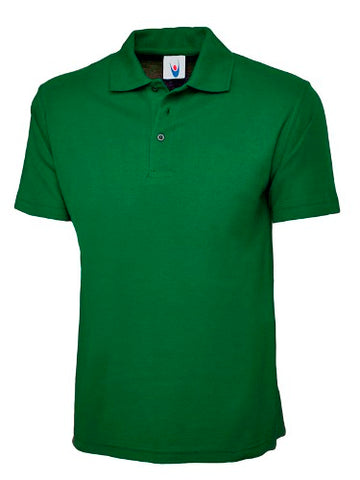 PLAIN ARMY GREEN POLO T-SHIRT M