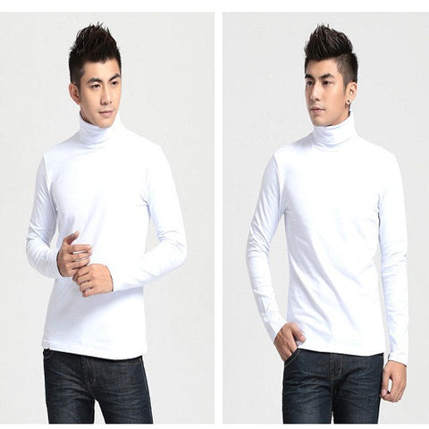 US ARMY FREESIZE WHITE TURTLE NECK T-SHIRT