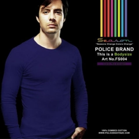 POLICE FS.004 FREESIZE PLAIN VIOLET MEDIUM LONG SLEEVE T-SHIRT