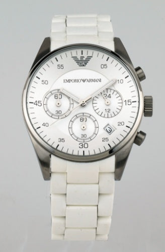 EMPORIOR ARMANI INSPIRED MALE WHITE WATCH