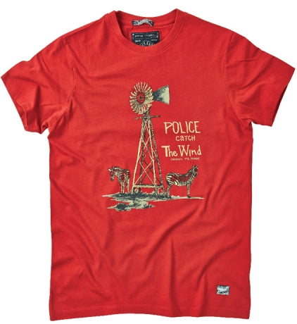 POLICE T.98 ZEBRA RED M/L/XL PRINTED SHORT SLEEVE T-SHIRT