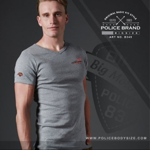 POLICE B.349 BIGSIZE GREY LARGE SHORT SLEEVE T-SHIRT