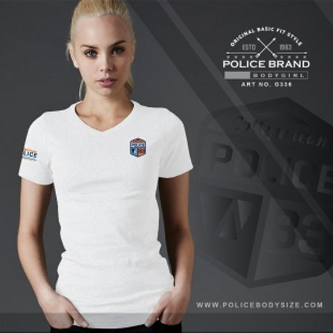 POLICE G.336 BODYGIRL WHITE MEDIUM PRINTED SHORT SLEEVE T-SHIRT