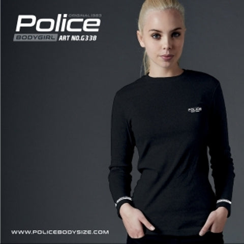POLICE G.338 BODYGIRL BLACK MEDIUM PRINTED LONG SLEEVE T-SHIRT