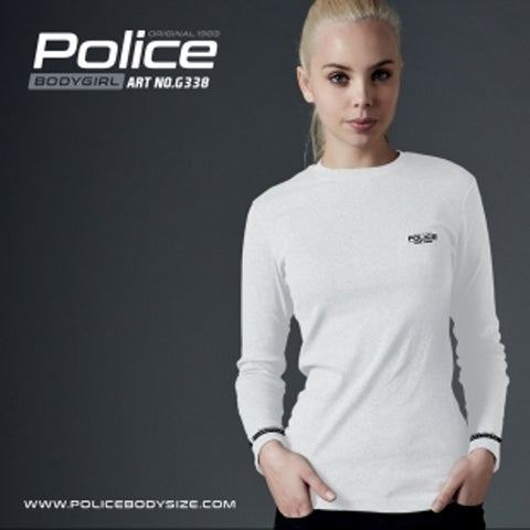 POLICE G.338 BODYGIRL WHITE MEDIUM PRINTED LONG SLEEVE T-SHIRT