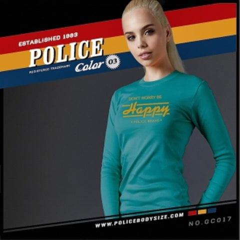 POLICE GC.017 BODYGIRL LITE BLUE MEDIUM LONG SLEEVE T-SHIRT