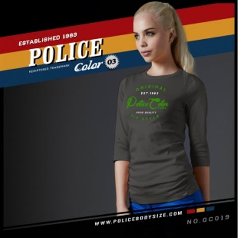 POLICE GC.019 BODYGIRL GREY MEDIUM LONG SLEEVE T-SHIRT