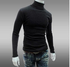 POLICE B.007 BIGSIZE TURTLE NECK PLAIN BLACK/WHITE/GREY LONG SLEEVE T-SHIRT