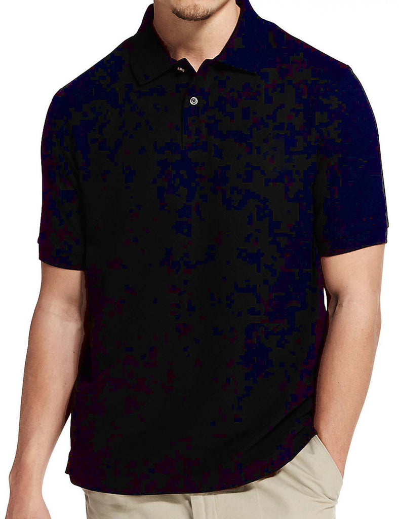 NAVY BLUE HARBOUR COTTON MEN POLO SHIRT