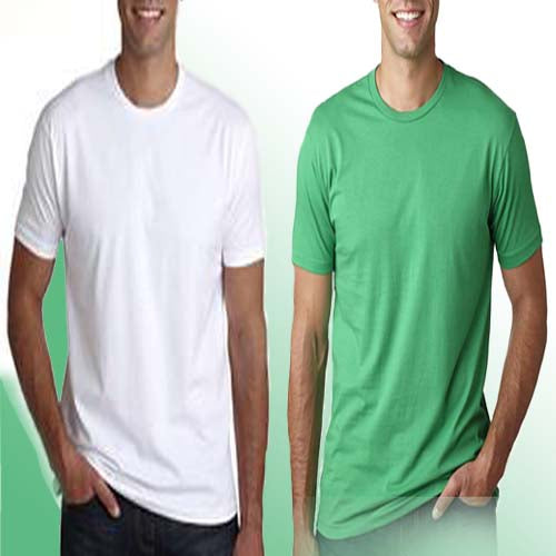 BYC Green and White Fitted Round Neck T- Shirt
