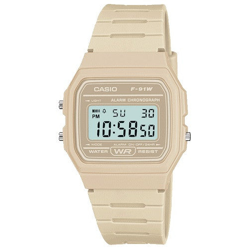 Casio F-91WC-8AEF Watch - Grey Digital