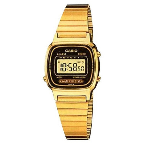 Casio Standard LA680WGA-1D, Gold Black Face