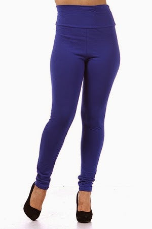 THICK PLUS SIZE BLUE HIGH WAIST LEGGING