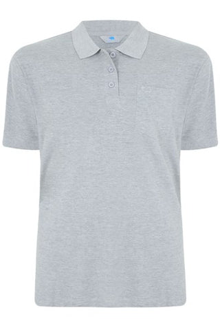 PLAIN GREY POLO T-SHIRT M--XXL