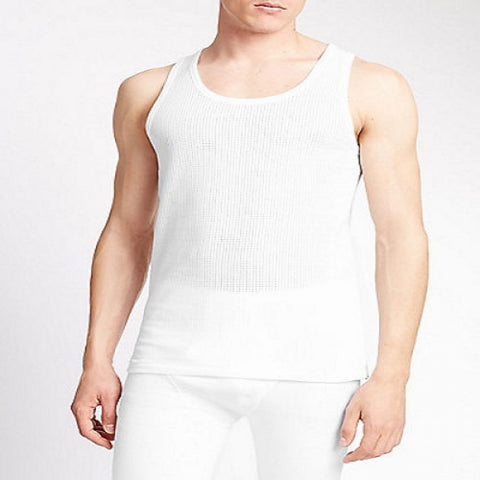 M & S CLASSIC SLEEVELESS 2 IN 1 VESTS