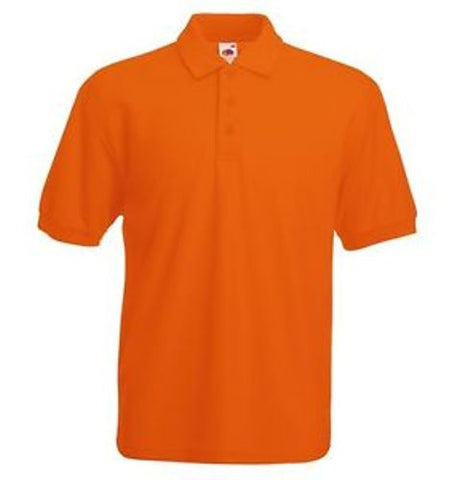 PLAIN ORANGE POLO T-SHIRT S--XXL